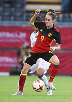 20170613 - LEUVEN ,  BELGIUM : Belgian Tessa Wullaert  pictured during the female soccer game between the Belgian Red Flames and Japan , a friendly game before the European Championship in The Netherlands 2017  , Tuesday 13 th Juin 2017 at Stadion Den Dreef  in Leuven , Belgium. PHOTO SPORTPIX.BE | DIRK VUYLSTEKE