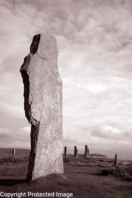 Ring of Brogar in the Orkney Islands, Scotland