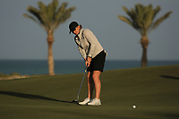 Karolin Lampert (GER) during the second round of the Fatima Bint Mubarak Ladies Open played at Saadiyat Beach Golf Club, Abu Dhabi, UAE. 11/01/2019<br /> Picture: Golffile | Phil Inglis<br /> <br /> All photo usage must carry mandatory copyright credit (&copy; Golffile | Phil Inglis)