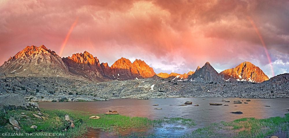 Sunset Rainbows, Palisade Range