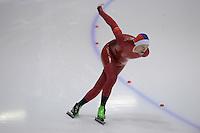SCHAATSEN: HEERENVEEN: Thialf, 4th Masters International Speed Skating Sprint Games, 25-02-2012, Morten Henriksen (M50) 2nd, ©foto: Martin de Jong
