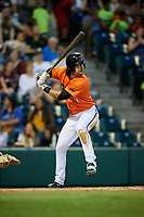 Richmond Flying Squirrels center fielder Ronnie Jebavy (1) at bat during a game against the Trenton Thunder on May 11, 2018 at The Diamond in Richmond, Virginia.  Richmond defeated Trenton 6-1.  (Mike Janes/Four Seam Images)
