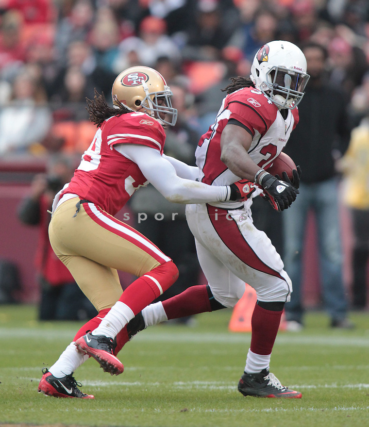 DASHON GOLDSON, of the San Francisco 49ers in action durIng the 49ers game against the Arizona Cardinals at Candlestick Park on January 2, 2011 in San Francisco, California.. .49ers beat the Cardinals 38-7