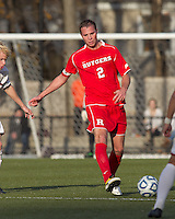 Rutgers University defender Joe Setchell (2) passes the ball.  Rutgers University defeated Boston College in penalty kicks after two overtime periods in NCAA Division I tournament action, at Newton Campus Field, November 20, 2011.