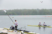 Caversham, Nr Reading, Berkshire.<br /> A Drone watches as the crews dock.<br /> GBRowing Media Day.<br /> <br /> Wednesday 11.05.2016<br /> <br /> [Mandatory Credit: Peter SPURRIER/Intersport Images]
