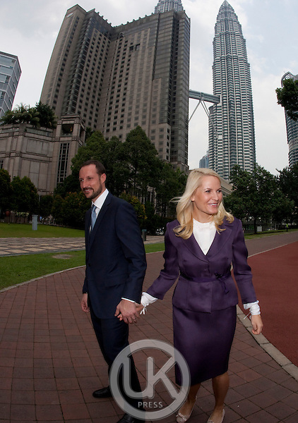 Crown Prince Haakon, and Crown Princess Mette Marit of Norway, .3 day visis to Malaysia..on their way to the opening of a seminar on gender equality, at the Kuala Lumpur Convention centre