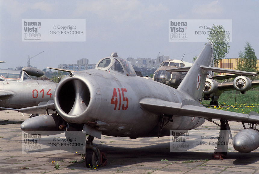 - air museum of Cracovia  (Poland), fighter airplane MIG 15  (URSS, 1950)....- museo dell' aeronautica di Cracovia (Polonia), aereo da caccia MIG 15  (URSS, 1950)