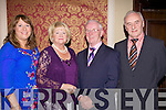 Abbeyfeale RFC celebrated their 50th Anniversary with a dinner dance last Saturday night in the Devon Inn, Templegalantine..Shannon O'Connor (P.R.O.), Elizanne McMahon (Patron Abbeyfeale RFC), Barney McMahon (past president of Abbeyfeale RFC), Dennis Murphy (past president of Abbeyfeale RFC).