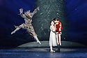 London, UK. 13.12.2016. English National Ballet presents NUTCRACKER, at the London Coliseum. Choreography by Wayne Eagling, based on a concept by Toer van Schayk and Wayne Eagling, music by Pyotr Ilyich Tchaikovsky, design by Peter Farmer, lighting by David Richardson. Picture shows: James Streeter (Mouse King), Alina Cojocaru (Clara), James Forbat (Nutcracker). Photograph © Jane Hobson.,