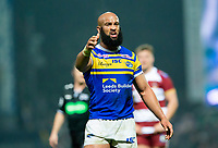 Picture by Allan McKenzie/SWpix.com - 13/04/2018 - Rugby League - Betfred Super League - Leeds Rhinos v Wigan Warriors - Headingley Carnegie Stadium, Leeds, England - Jamie Jones-Buchanan protests about a decision.
