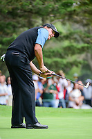 Phil Mickelson (USA) barely misses his birdie attempt on 7 during round 3 of the World Golf Championships, Mexico, Club De Golf Chapultepec, Mexico City, Mexico. 3/4/2017.<br /> Picture: Golffile | Ken Murray<br /> <br /> <br /> All photo usage must carry mandatory copyright credit (&copy; Golffile | Ken Murray)
