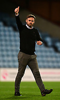 Scunthorpe United manager Graham Alexander acknowledges the fans at the final whistle<br />