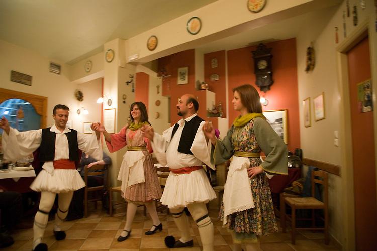 A night of dinner, music, and folk dancing in Nafplio,Greece