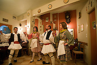 A night of dinner, music, and folk dancing in Nafplio,Greece