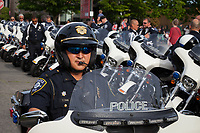 Seattle Motorcycle Police Department, 17th of May Festival and Parade, Ballard, Seattle, WA, USA.