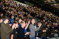 Bolton Wanderers' fans applaud their team at the end of the match<br /> <br /> Photographer Andrew Kearns/CameraSport<br /> <br /> The Carabao Cup First Round - Rochdale v Bolton Wanderers - Tuesday 13th August 2019 - Spotland Stadium - Rochdale<br />  <br /> World Copyright © 2019 CameraSport. All rights reserved. 43 Linden Ave. Countesthorpe. Leicester. England. LE8 5PG - Tel: +44 (0) 116 277 4147 - admin@camerasport.com - www.camerasport.com