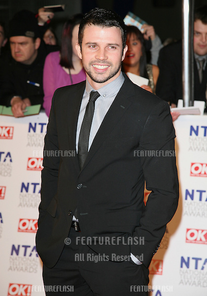Neil McDermott arriving for the National Television Awards 2011, at the O2, London. 26/01/2011  Picture By: Alexandra Glen / Featureflash