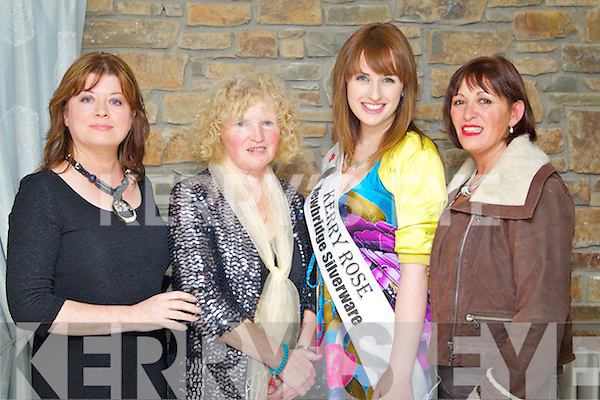 Pictured at the Fashion Show in the Earl of Desmond Hotel on Thursday night, were from left: Gillian Wharton-Slattery, Joan Rogers, Sile Ní Dheargain (Kerry Rose 2011), Mags McElligott (Mag's Boutique Kilflynn).