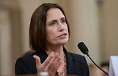 Dr. Fiona Hill, former Senior Director for Europe and Russia, National Security Council (NSC) testifies during the US House Permanent Select Committee on Intelligence public hearing as they investigate the impeachment of US President Donald J. Trump on Capitol Hill in Washington, DC on Thursday, November 21, 2019.<br /> Credit: Ron Sachs / CNP<br /> (RESTRICTION: NO New York or New Jersey Newspapers or newspapers within a 75 mile radius of New York City)