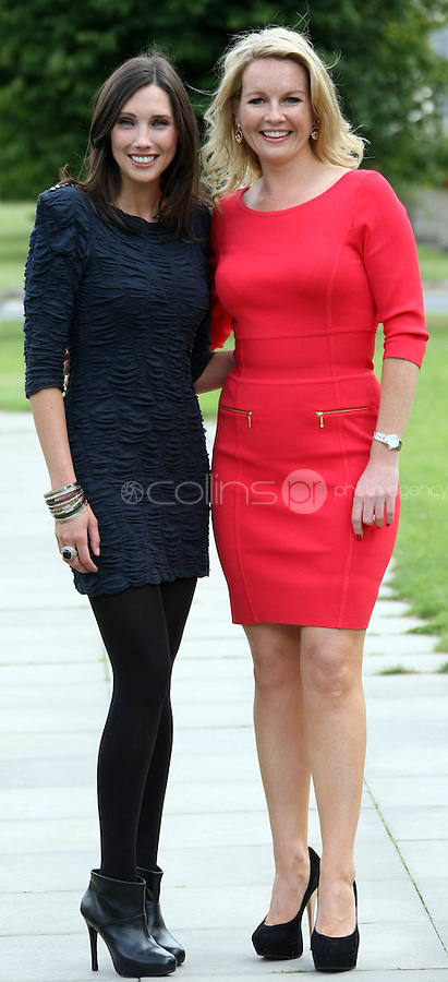05/08/'10 Michelle Doherty of  'Under Ether' and Claire Byrne of  '4 Daily Extra' pictured  at the launch of RTE's new season winter schedule at Montrose this afternoon...Picture Colin Keegan, Collins, Dublin.