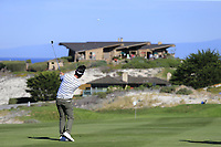 Kevin Na (USA) plays his 2nd shot on the 4th hole at Spyglass Hill during Thursday's Round 1 of the 2018 AT&amp;T Pebble Beach Pro-Am, held over 3 courses Pebble Beach, Spyglass Hill and Monterey, California, USA. 8th February 2018.<br /> Picture: Eoin Clarke | Golffile<br /> <br /> <br /> All photos usage must carry mandatory copyright credit (&copy; Golffile | Eoin Clarke)
