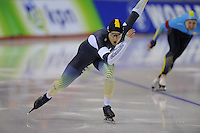 SPEEDSKATING: CALGARY: nov.2015, Olympic Oval, ISU World Cup, Daniel Greig (AUS), ©foto Martin de Jong