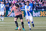 Atletic de Bilbao's Raul Garcia, Club Deportivo Leganes's Ruben Perez during the match of La Liga between Leganes and Athletic Club at Butarque Stadium  in Madrid , Spain. January  14, 2017. (ALTERPHOTOS/Rodrigo Jimenez)