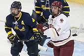 Marc Biega (Merrimack - 4), Chris Calnan (BC - 11) - The visiting Merrimack College Warriors defeated the Boston College Eagles 6 - 3 (EN) on Friday, February 10, 2017, at Kelley Rink in Conte Forum in Chestnut Hill, Massachusetts.