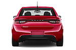 Straight rear view of a 2015 Dodge Dart SE 4 Door Sedan Rear View  stock images
