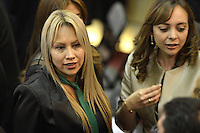 BOGOTA -COLOMBIA. 20-07-2014. Sandra Ortiz, representante electa, durante la Instalación del Congreso de la República de Colombia período 2014-18 por parte del presidente, Juan Manuel Santos en el Salón Elítico del Capitolio Nacional./ Sandra Ortiz, representative elected and who will be the president of the House of Representatives, during the installation of the Congress of the Republic of Colombia period 2014-18 by the president, Juan Manuel Santos at the Salon Eliptico of the National Capitol. Photo: VizzorImage/ Gabriel Aponte / Staff