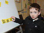 Ben Murphy pictured at the open day at Scoil Oilibhear Naofa. Photo: Colin Bell/pressphotos.ie