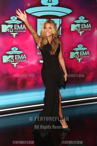 Sylvie Van der Vaart  arriving at the MTV EMA awards, Amsterdam, Netherlands. 10/11/20013 Picture by: Henry Harris / Featureflash
