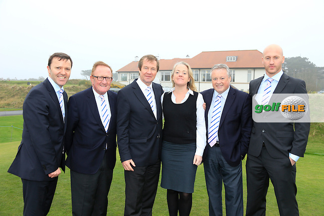 The European Tour Team at the Irish Open 2015 announcement, Royal County Down Golf Club, Newcastle, Down,Ireland.<br /> Picture: Fran Caffrey www.golffile.ie
