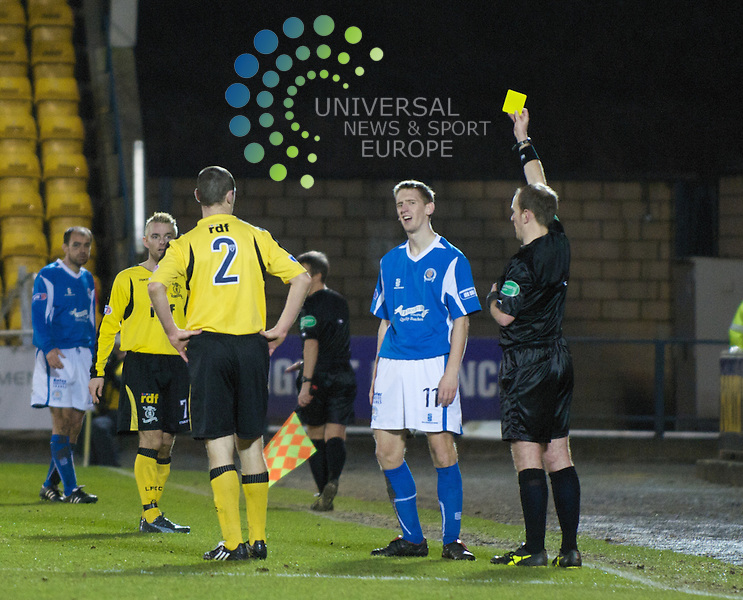 Kinniburgh gets yellow carded...All pictures must be credited to www.universalnewsandsport.com (Office) 0844 884 51 22