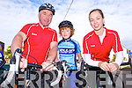 Pictured at the Castleisland Day Care Centre cycle on Sunday were l-r: Paudie Walsh (Brosna Road, Castleisland) Paul Walsh and Mary Herlihy (Scartaglin)