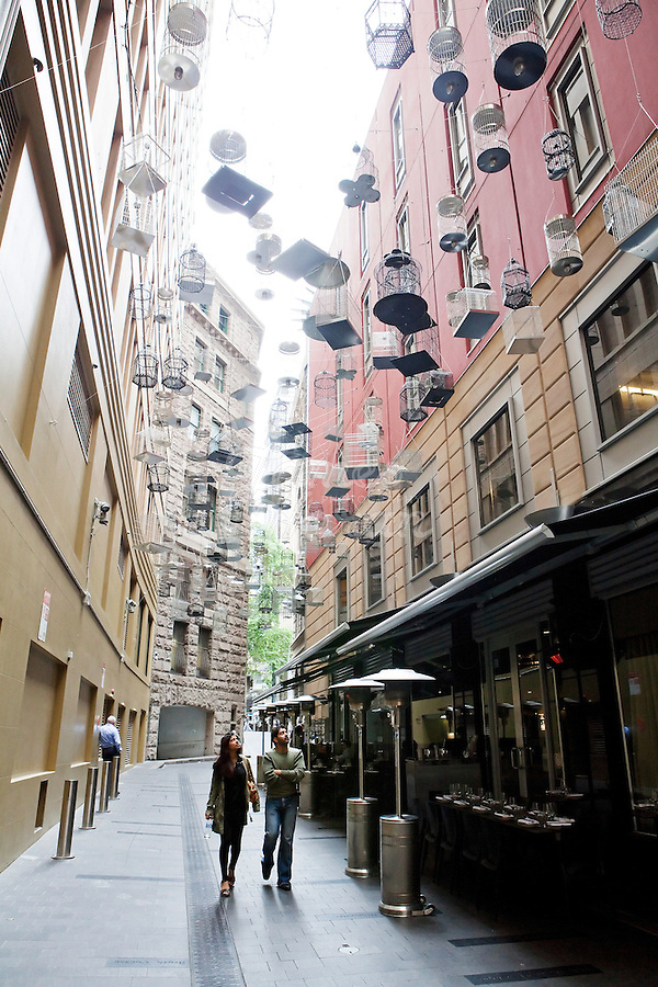 Angel Place Sydney. Sydney Laneways Story.Picture James Horan