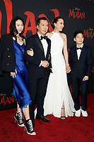 """LOS ANGELES - MAR 9:  Jasmine Yen, Donnie Yen, Cissy Wang, James Yen at the """"Mulan"""" Premiere at the Dolby Theater on March 9, 2020 in Los Angeles, CA"""