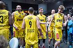 10.02.2019, ÖVB Arena, Bremen, GER, easy Credit-BBL, Eisbären Bremerhaven vs EWE Baskets Oldenburg, im Bild<br /> erste Mal...und gleich die Humba..<br /> Alexander HOPP (EWE Baskets Oldenburg #4 )<br /> Foto © nordphoto / Rojahn