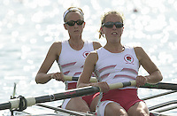 Nottingham, ENGLAND.  <br /> Commonwealth Regatta - Nottingham<br /> 20020818<br /> GBR LW2- Stephanie Temperton and Emma Thorpe