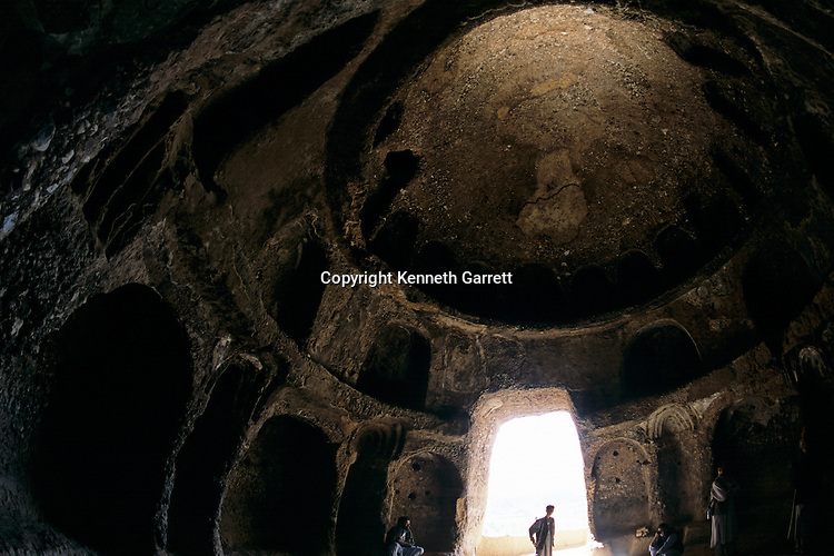 Domed sanctuary West of smaller Buddha,UNESCO World Heritage site of Bamiyan, Buddha statue and monastic caves from 5th & 6th century AD, statues destroyed by the Taliban, Bamian