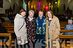 l-r Bridie Brosnan, Breda Sparling, Mary O'Connor and Liz Thomas all from Killarney pictured at The Kingdom Gospel Choir Charity Concert in aid of Kerry Cancer Support in the Friary Church, Killarney last Sunday evening.
