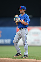 Toronto Blue Jays second baseman Gunnar Heidt (28) during an Instructional League game against the New York Yankees on September 24, 2014 at George M. Steinbrenner Field in Tampa, Florida.  (Mike Janes/Four Seam Images)