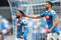 Lorenzo Insigne of Napoli celebrates after scoring a goal \<br /> Napoli 14-01-2020 Stadio San Paolo <br /> Football Italy Cup 2019/2020 SSC Napoli - AC Perugia<br /> Photo Cesare Purini / Insidefoto