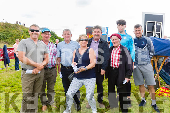 Enjoying the atmosphere at the Cahersiveen Races on Sunday were l-r; Michael King, Mike Curran, Mike McCarthy, Carolyn King, Mattie Quirke, John Paul O'Shea, Jack Daly & Mark Quigley.