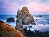 Oregon coastline at sunrise, near Crook Point.