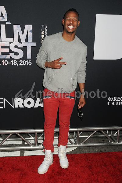 "8 June 2015 - Los Angeles, California - Marlon Wayans. LA Film Festival 2015 Premiere of ""Dope"" held at Regal Cinemas L.A. Live. Photo Credit: Byron Purvis/AdMedia"