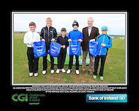 Kilkenny Golf Club boys With Kate Wright CGI and Brendan Byrne Bank of Ireland.<br /> Junior golfers from across Leinster practicing their skills at the regional finals of the Dubai Duty Free Irish Open Skills Challenge supported by Bank of Ireland at the Heritage Golf Club, Killinard, Co Laois. 2/04/2016.<br /> Picture: Golffile | Fran Caffrey<br /> <br /> <br /> All photo usage must carry mandatory copyright credit (© Golffile | Fran Caffrey)