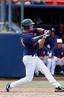 Greg Velazquez #24 of the Cal State Fullerton Titans bats against the Oregon Ducks at Goodwin Field on March 3, 2013 in Fullerton, California. (Larry Goren/Four Seam Images)