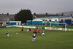 Port Talbot Town 3 Caerau Ely 0, 06/02/2016. Genquip Stadium, Welsh Cup fourth round. Second-half action as Port Talbot Town (in blue) play host to Caerau Ely in a Welsh Cup fourth round tie at the Genquip Stadium, formerly known as Victoria Road. Formed by exiled Scots in 1901 as Port Talbot Athletic, they competed in local and regional football before being promoted to the League of Wales  in 2000 and changing their name to the current version a year later. Town won this tie 3-0 against their opponents from the Welsh League, one level below the welsh Premier League where Port Talbot competed, watched by a crowd of 113. Photo by Colin McPherson.