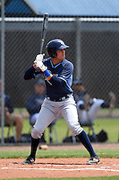 Tampa Bay Rays minor league outfielder Elias Torres (84) during an extended spring training game against the Boston Red Sox on April 16, 2014 at Charlotte Sports Park in Port Charlotte, Florida.  (Mike Janes/Four Seam Images)